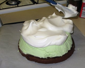 Topping Baked Alaska with Meringue 2